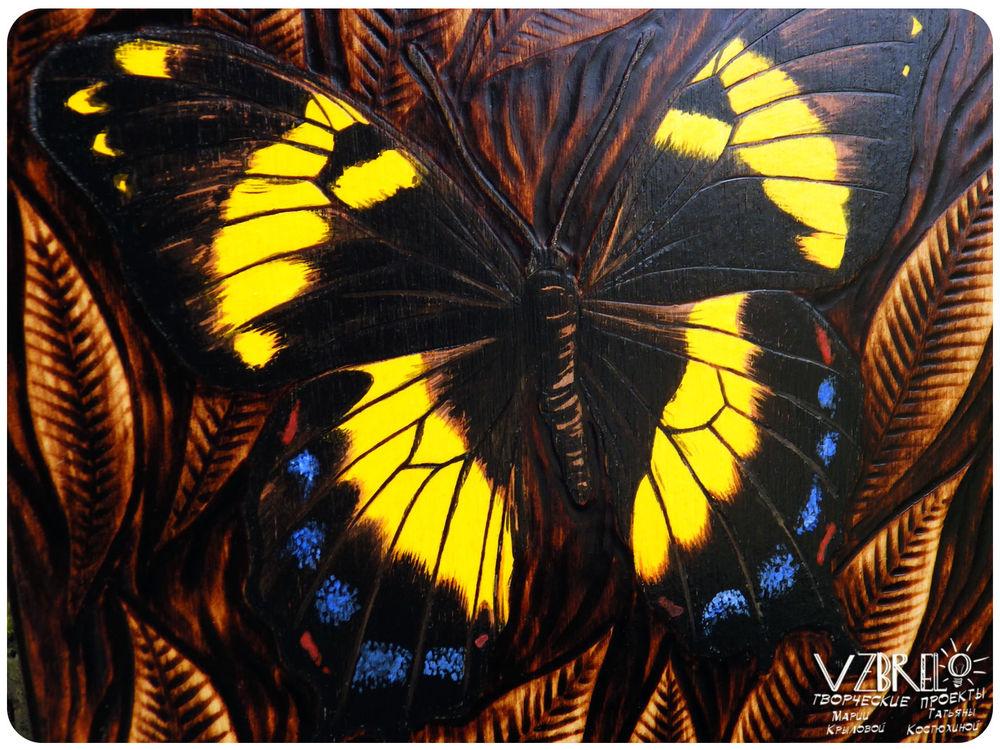взбрело, бабочка, бабочки, деревянный блокнот, блокнот из дерева, крафтовый блокнот, роспись, мастерская, крафт