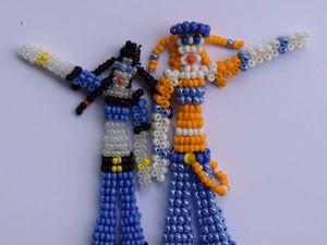 Создаем милых девочек из бисера. Часть 1. Ярмарка Мастеров - ручная работа, handmade.
