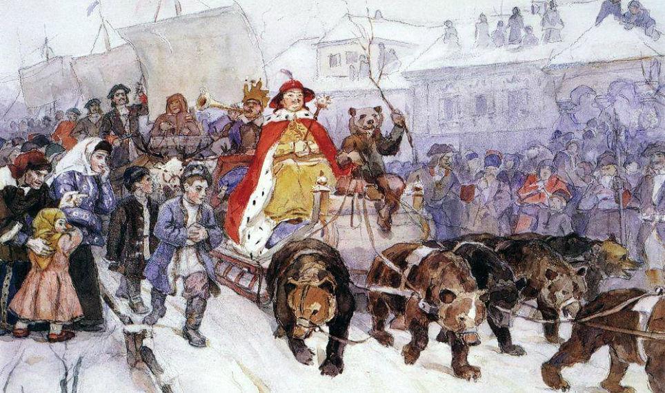история маскарада, россия 17-18 века, придворный маскарад, маскарадные традиции