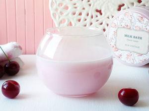 Товар дня! -25% на молочную ванну Вишня!. Ярмарка Мастеров - ручная работа, handmade.