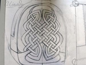 Создаем аппликацию из кожи по мотивам кельтского орнамента для украшения рюкзака. Ярмарка Мастеров - ручная работа, handmade.