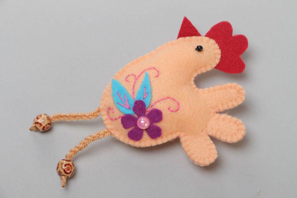 Елочная игрушка петушок своими руками из фетра