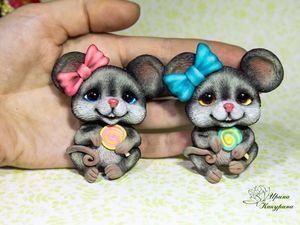 Мышка малышка. Ярмарка Мастеров - ручная работа, handmade.