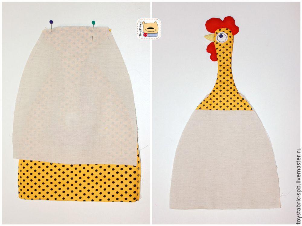 петух текстильный