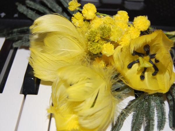 Мастерим цветы из перьев: солнечный тюльпан | Ярмарка Мастеров - ручная работа, handmade