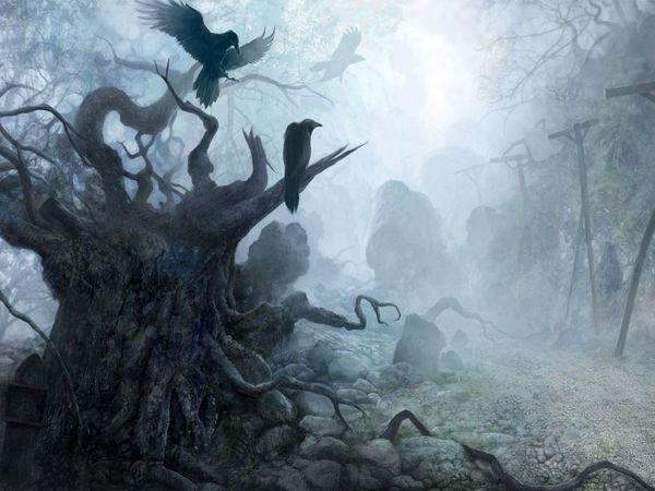 Лес как территория потустороннего мира.   Ярмарка Мастеров - ручная работа, handmade