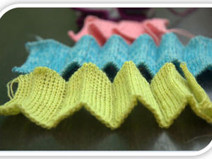Машинное вязание. Вертикальные складки на основе ластика. Ярмарка Мастеров - ручная работа, handmade.