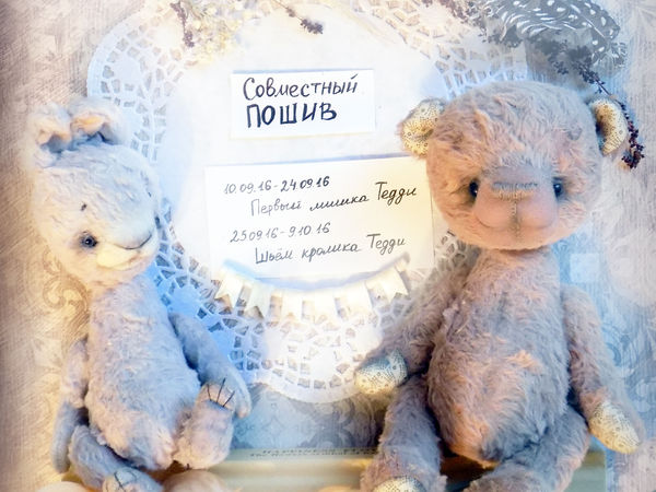 Совместный пошив кроликов и мишек Тедди!!! | Ярмарка Мастеров - ручная работа, handmade
