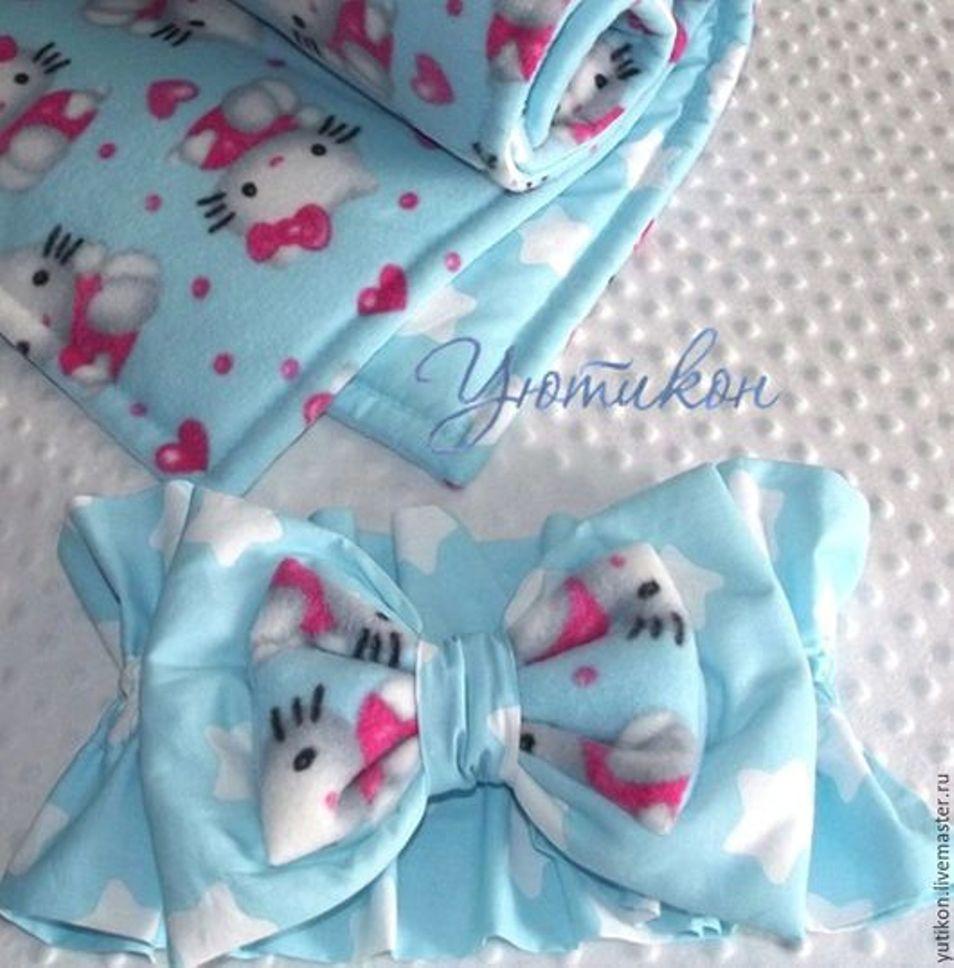 плюшевое одеялко, одеяло на выписку, китти, голубое одеяло, аукцион, выгодная цена