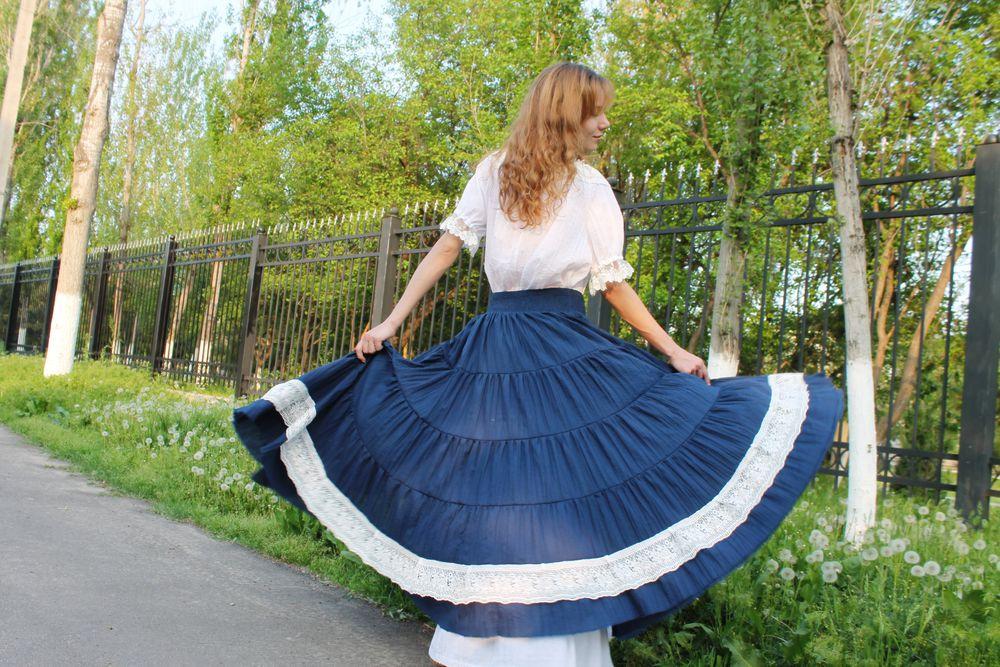 летняя юбка в пол
