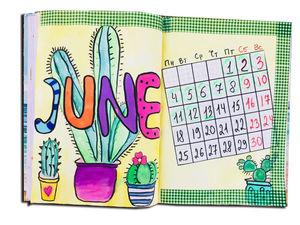 Рисуем календарь с датой рождения. Ярмарка Мастеров - ручная работа, handmade.