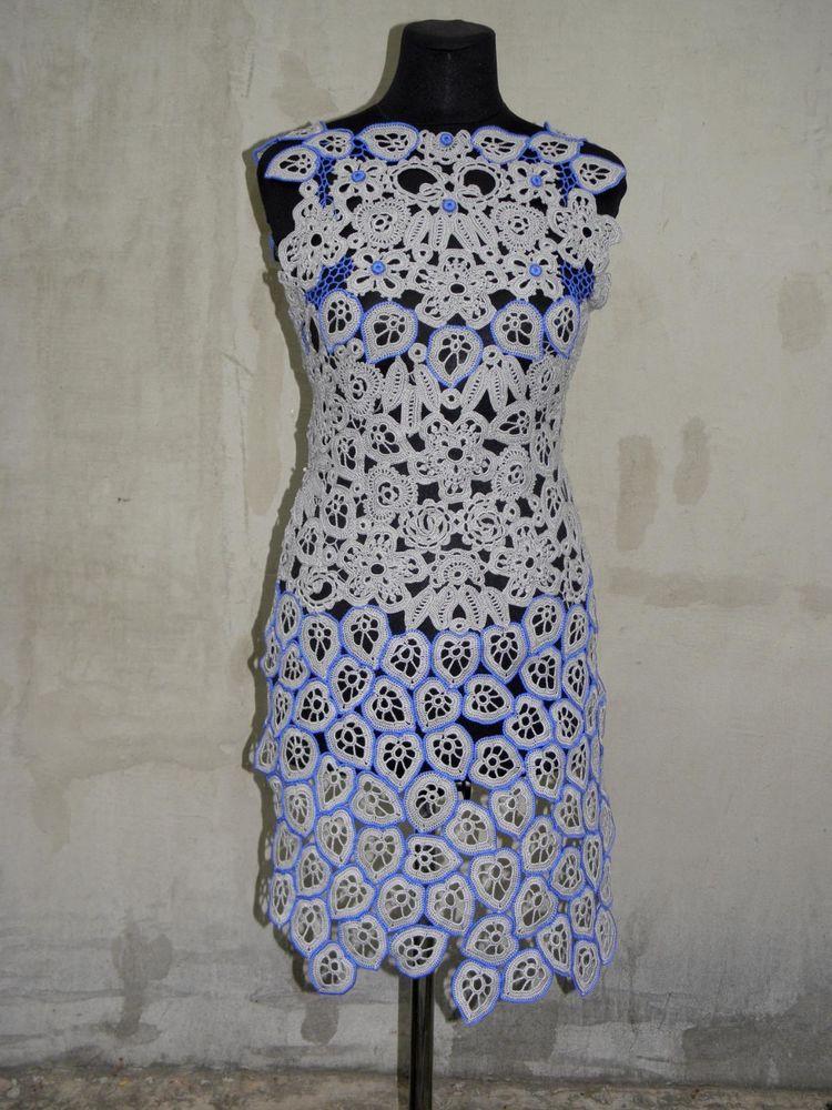 платье, вязание крючком