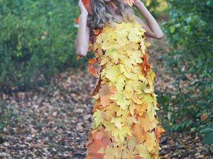 Создаем платье «Осень» с листьями из фоамирана. Ярмарка Мастеров - ручная работа, handmade.