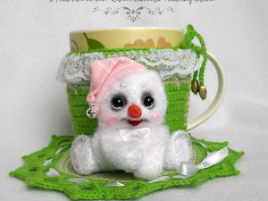 Снеговик(чехол на кружку) | Ярмарка Мастеров - ручная работа, handmade