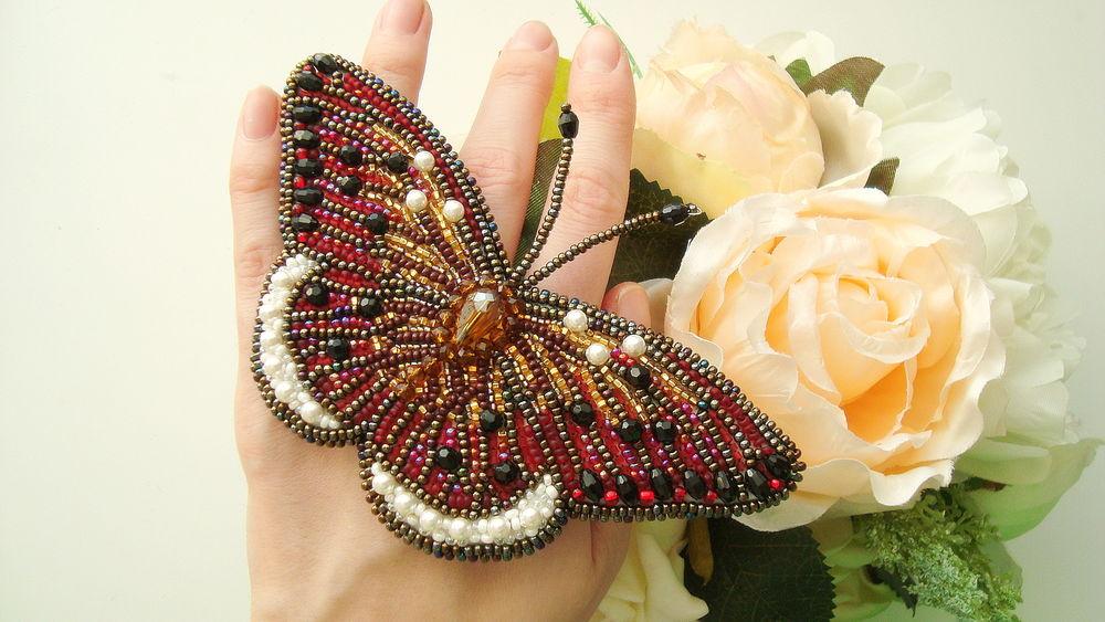 Бисер свои руками бабочка