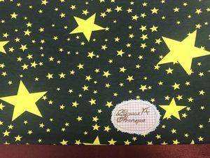 Поступили Звезды на черном. Футер 2-х нитка набивной с лайкрой. Ярмарка Мастеров - ручная работа, handmade.