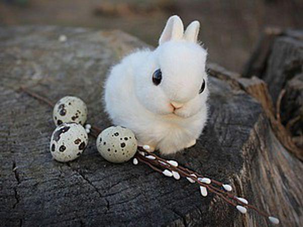 Cool DIY: Fluffy Snow-White Easter Rabbit   Livemaster - handmade