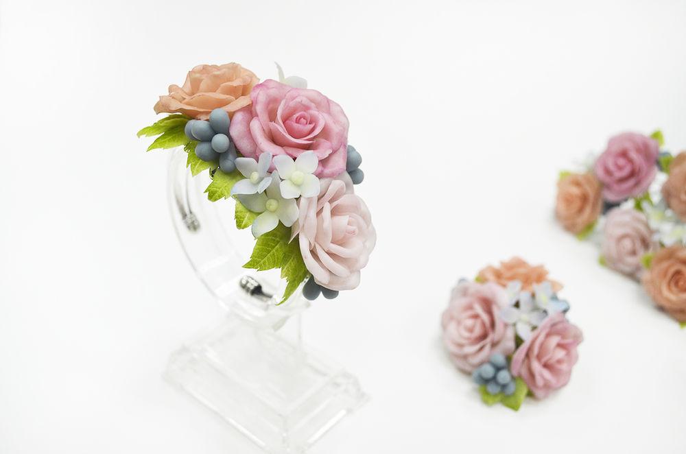 холодный фарфор, раменское, цветочных дел мастерская, шпильки с цветами