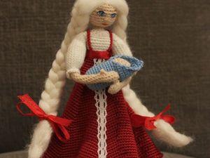 Мастер-класс: как связать девушку-славяночку с младенцем. Ярмарка Мастеров - ручная работа, handmade.