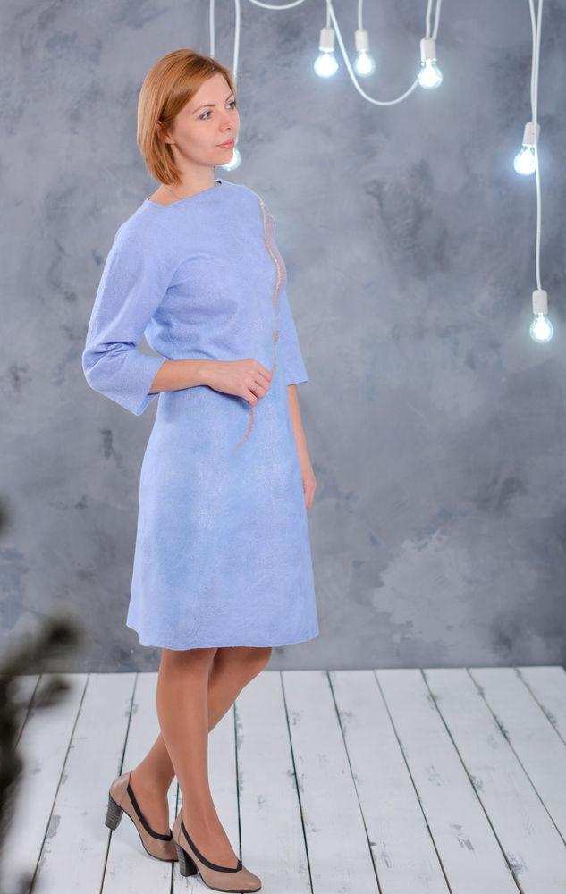 украса, мк по валянию платье, платье из войлока, рожденсвенский мк, учимся валять