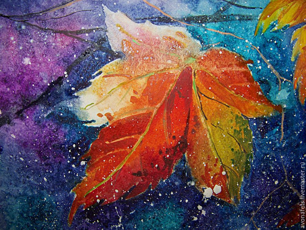 Осенний мастер-класс: акварель по-мокрому, фото № 20