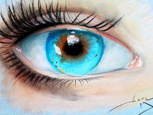 Как нарисовать глаз: видео мастер-класс. Ярмарка Мастеров - ручная работа, handmade.