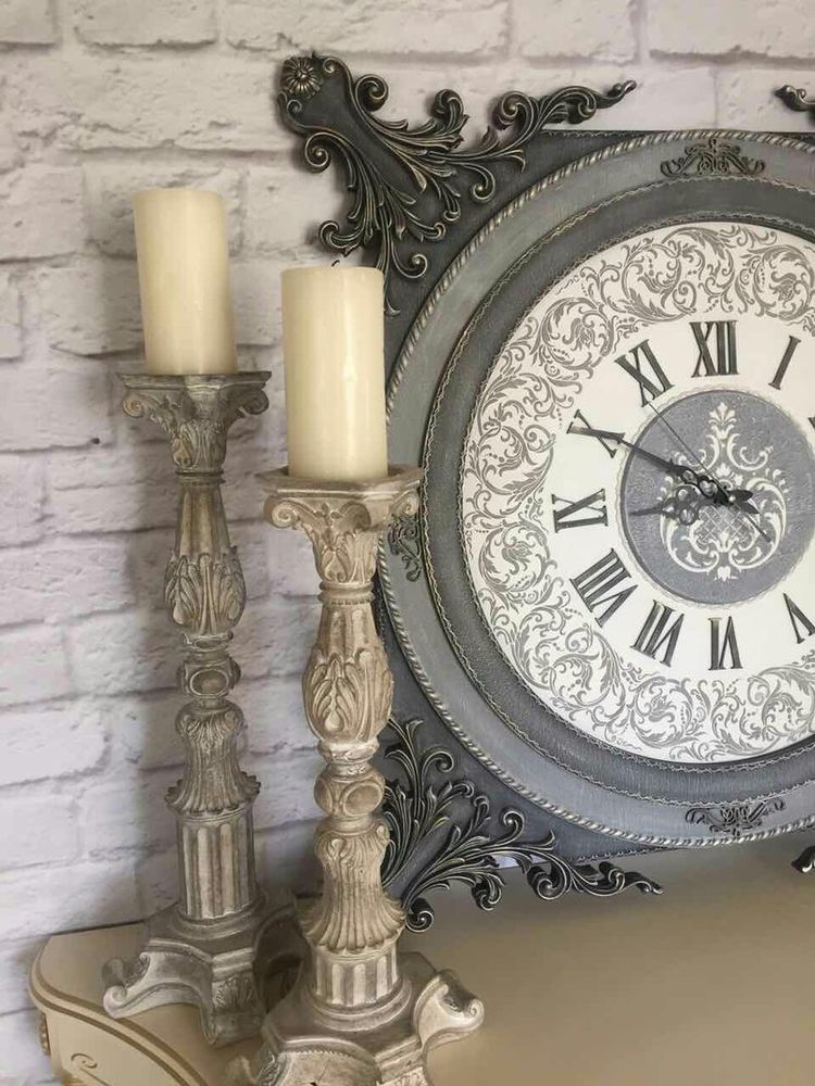 часы, барокко, питер, декупаж handmade, узор