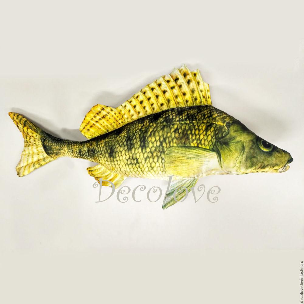 рыба подушка, подарок мужу, подарок рыболову, decolove