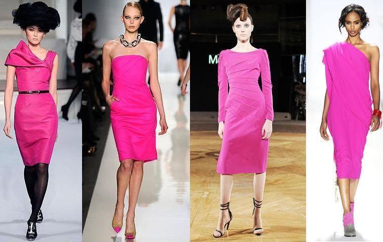 С чем одеть платье цвет фуксии