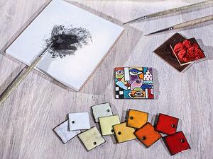 Мастер класс по горячей эмали. Живописная эмаль. | Ярмарка Мастеров - ручная работа, handmade