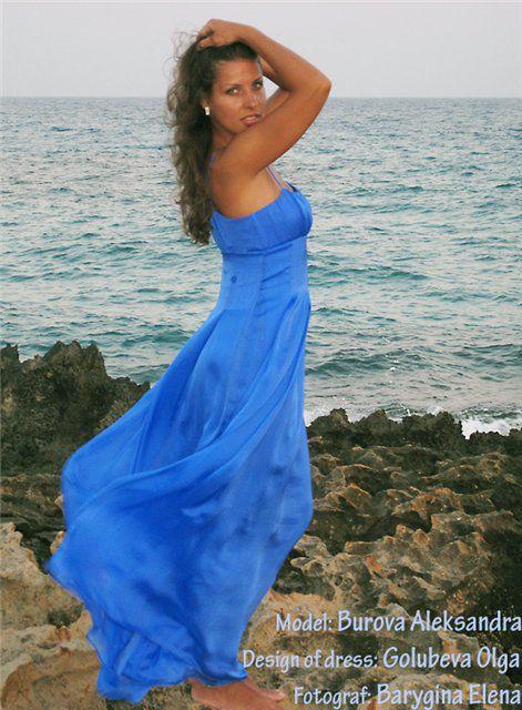 летние платья, go-style, голубой