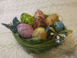 Делаем корзинку для пасхальных яиц вместе с детьми. Ярмарка Мастеров - ручная работа, handmade.