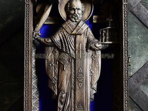 Икона святителя Николы Можайского. Ярмарка Мастеров - ручная работа, handmade.
