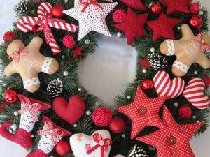 История создания новогоднего венка .   Ярмарка Мастеров - ручная работа, handmade