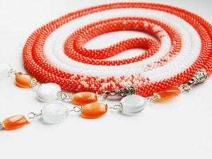 Больше фоток оранжевого лариата | Ярмарка Мастеров - ручная работа, handmade