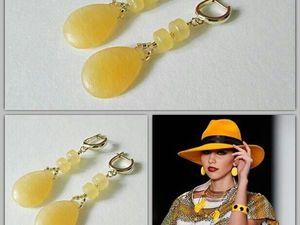 Анонс! Новые серьги желтый опал от Olga Gardenia. Ярмарка Мастеров - ручная работа, handmade.