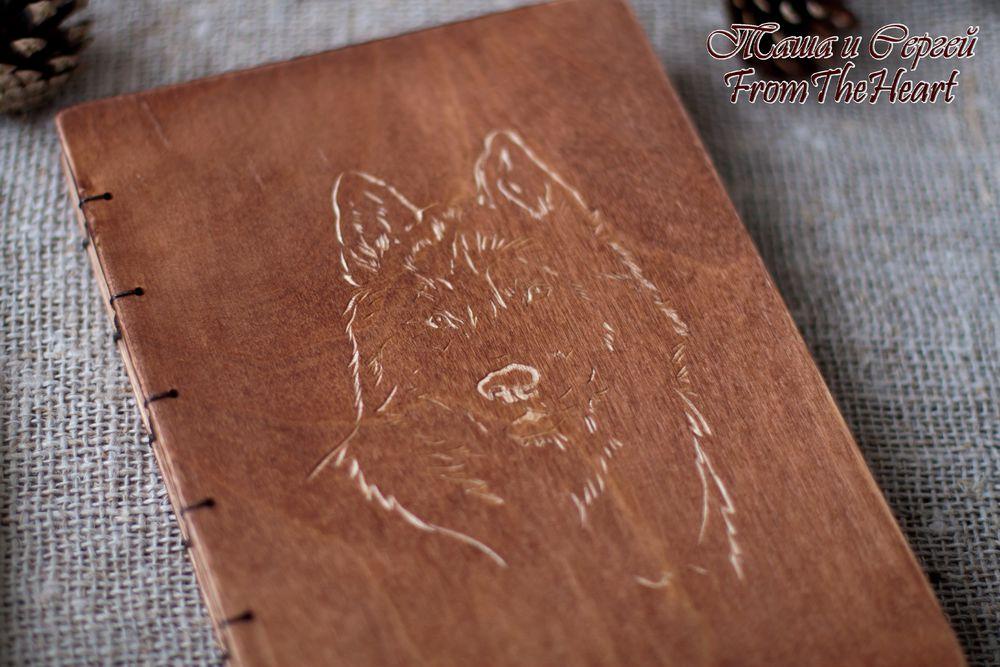 подарок мужчине, эко, деревянный блокнот