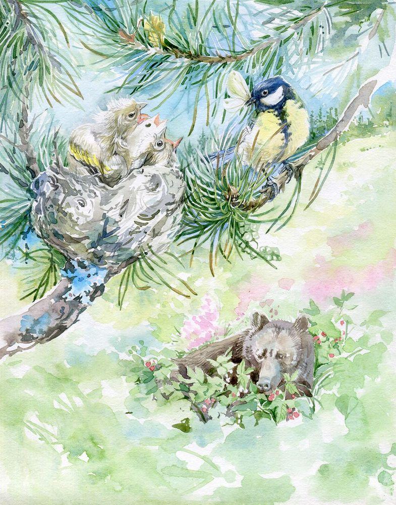 Лавандового, картинки синичкин календарь бианки