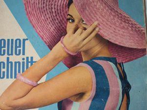 Neuer Schnitt — старый немецкий журнал мод 7/1965. Ярмарка Мастеров - ручная работа, handmade.
