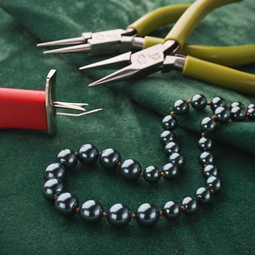 сваровски, бусы из жемчуга, классическое ожерелье, жемчужное ожерелье