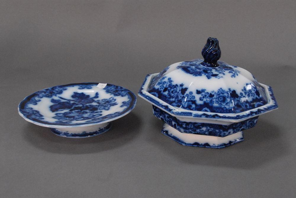 Flow blue — антикварная красота из Англии, фото № 26