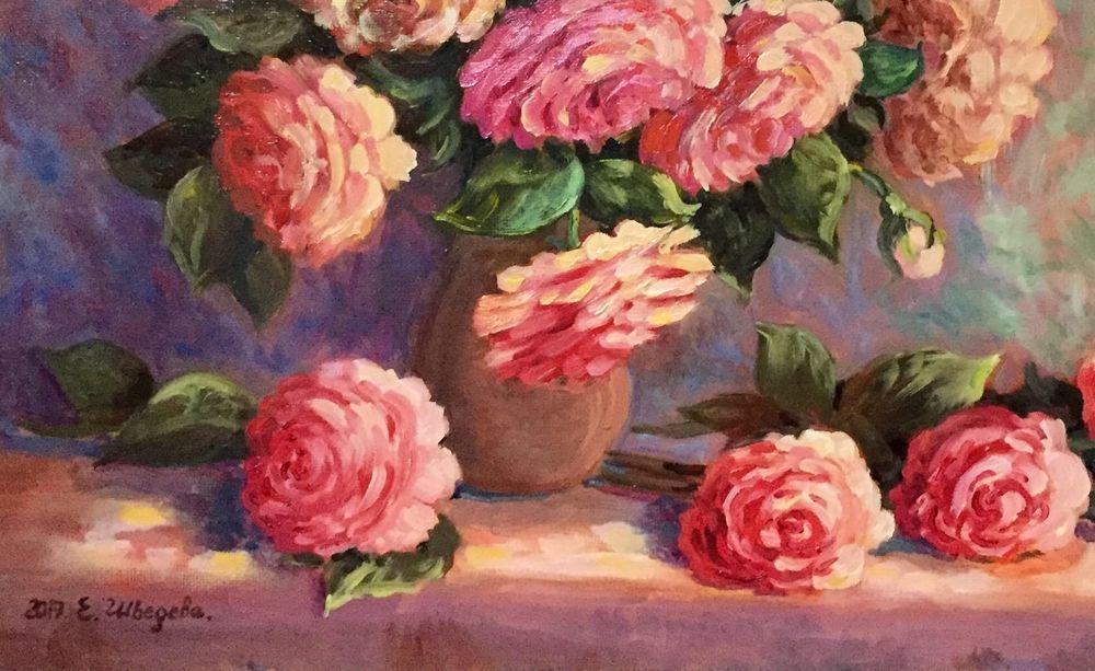 розы, купить картину маслом