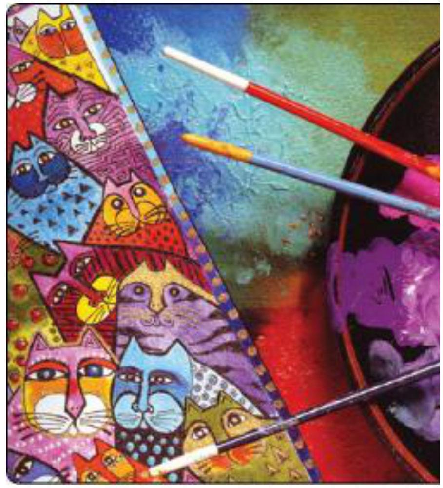 шифон, радужный кот, арт, ткани для творчества