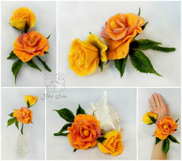 учимся валять цветы, интерьерные цветы, юка сан