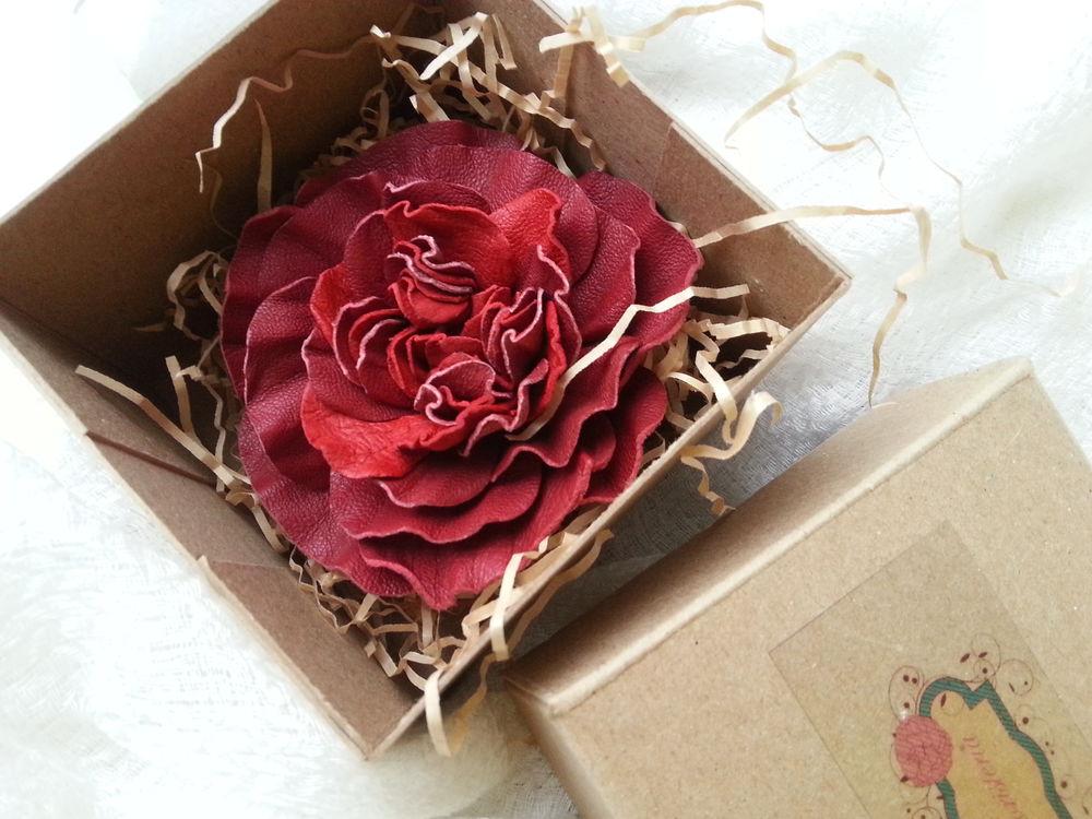 упаковка подарка, натуральная кожа