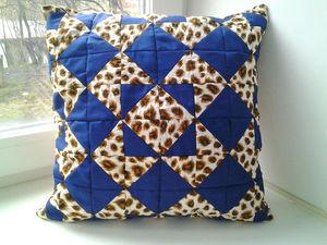 Шьем забавную подушку-думочку из лоскутков. Ярмарка Мастеров - ручная работа, handmade.