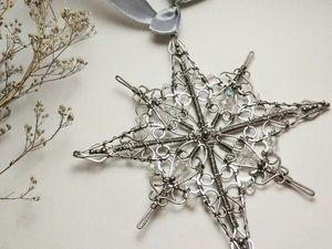 How to Make a Snowflake in the Wire Wrap Technique. Livemaster - handmade
