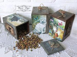 Короба для хранения сухого корма. Ярмарка Мастеров - ручная работа, handmade.