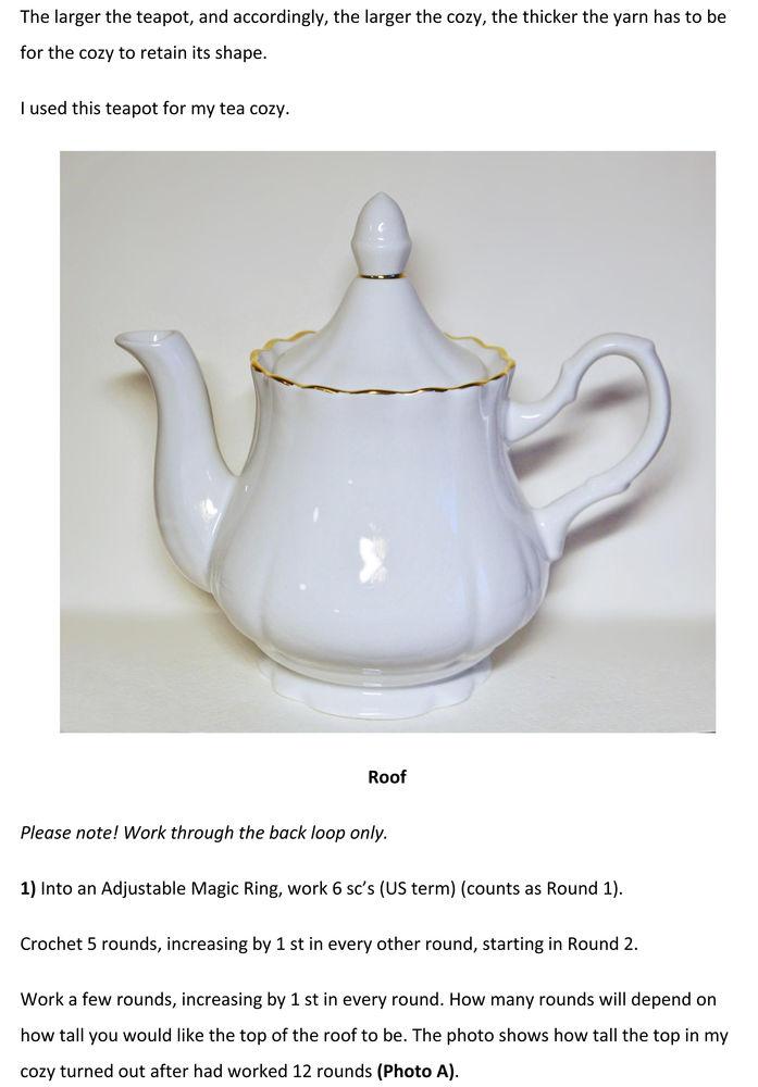 грелка на чайник крючком