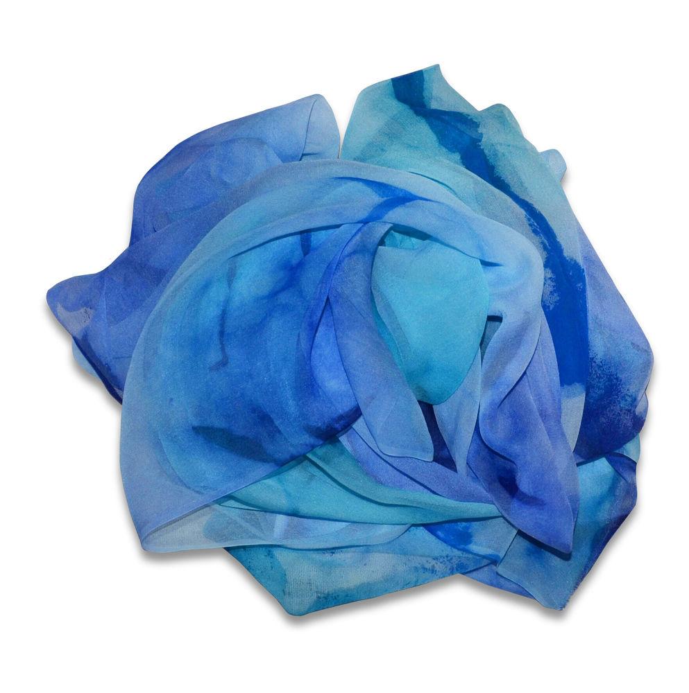 мастер класс шибори, шёлковый шарф батик